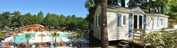 location mobil-homes camping Landes
